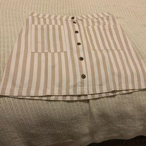 Casual colored denim skirt
